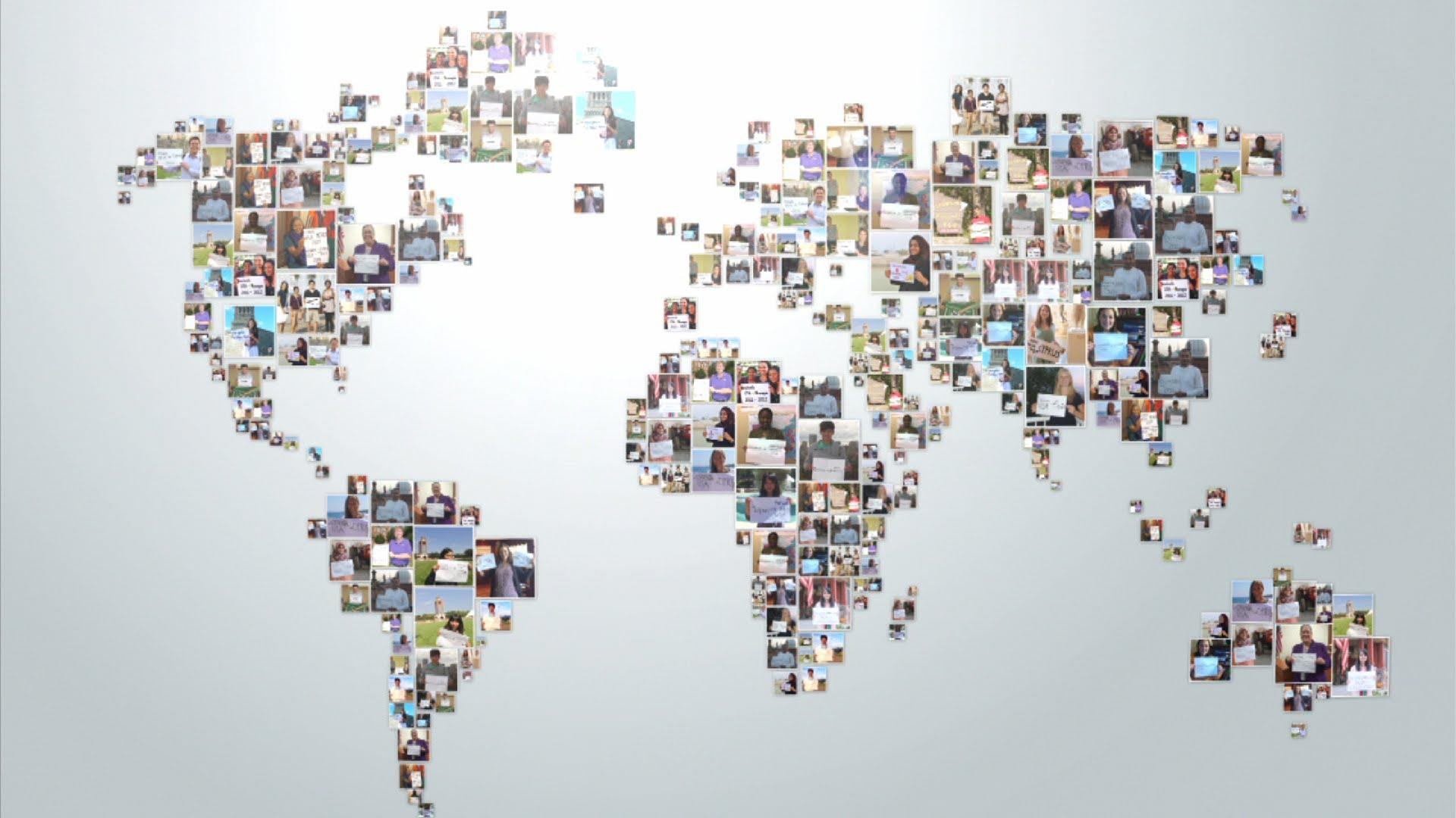 Carte représentants internationaux